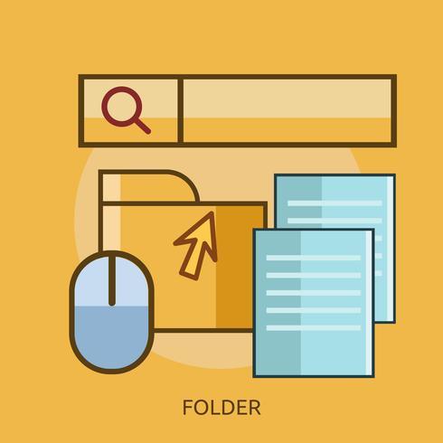 Folder Conceptual Design Konzeptionelle Darstellung Design vektor