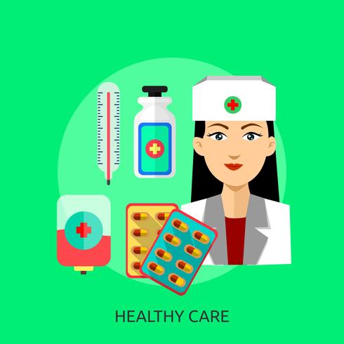 Konzeptionelle Darstellung für gesunde Pflege vektor