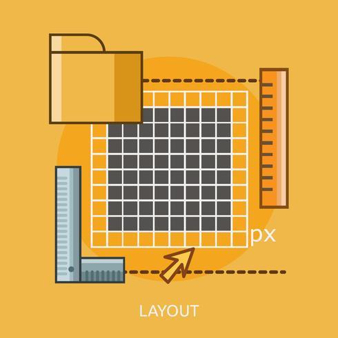 Layout konzeptionelle Abbildung Design vektor
