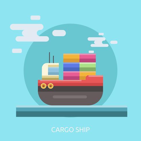 Frachtschiff konzeptionelle Illustration Design vektor