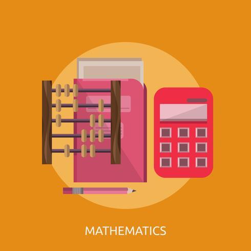 Matematik Konceptuell illustration Design vektor