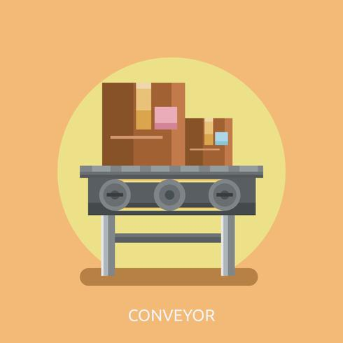 Conveyor Konceptuell illustration Design vektor