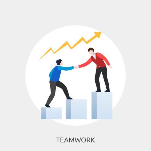 Teamwork Konceptuell illustration Design vektor