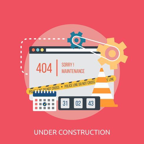 Under konstruktion Konceptuell illustration Design vektor