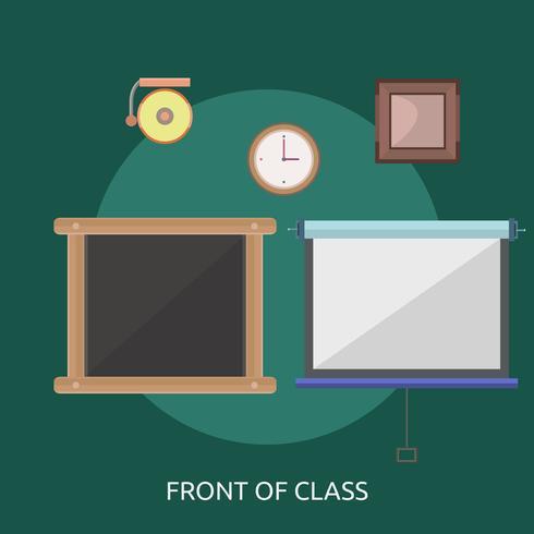 Framsidan av klassen Konceptuell illustration Design vektor