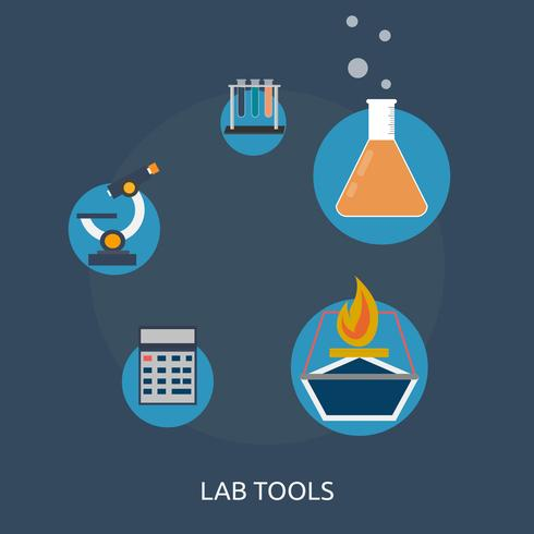 Lab Tools konzeptionelle Illustration Design vektor