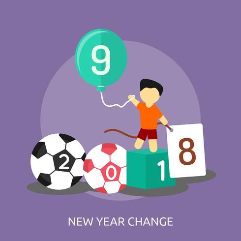 Neues Jahr konzeptionelle Illustration Design vektor