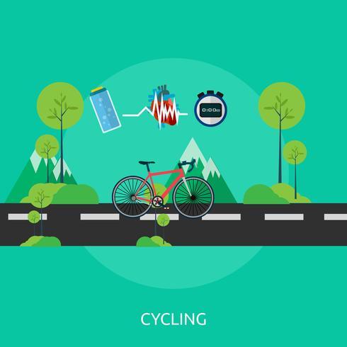 Radfahren konzeptionelle Illustration Design vektor