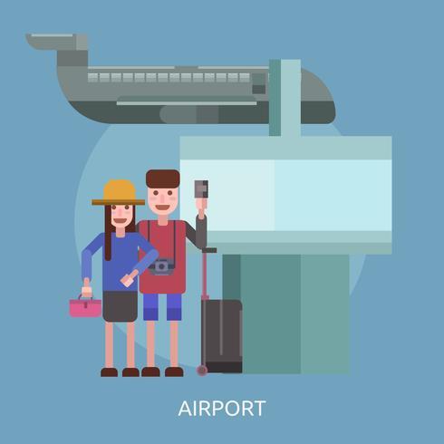 Flughafen konzeptionelle Illustration Design vektor