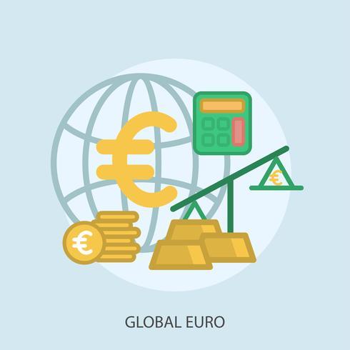 Globales Euro-Konzeptionelle Darstellung vektor