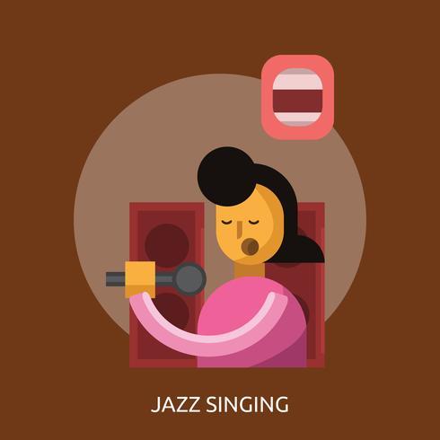 Jazz Singing Konceptuell illustration Design vektor