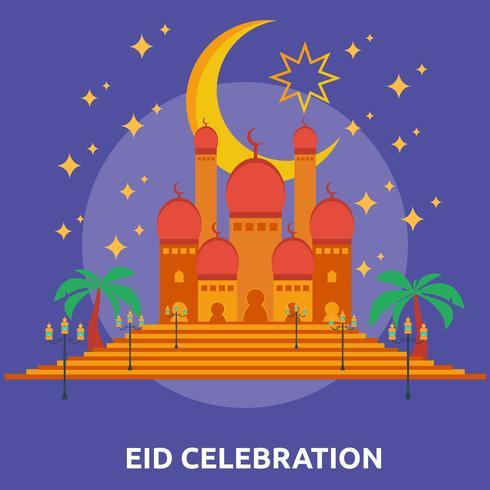 Eid Celebration Konceptuell illustration Design vektor