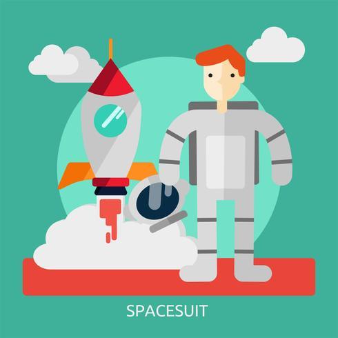 Spacesuit Konceptuell illustration Design vektor