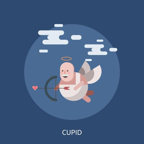 Cupid Konceptuell illustration Design vektor