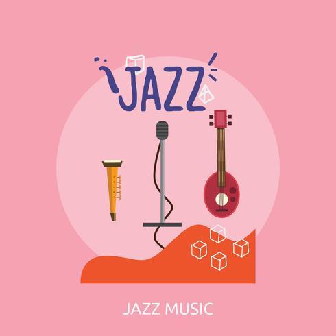 Jazz Music Konzeptionelle Darstellung vektor