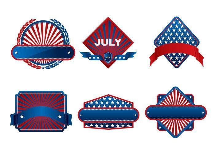 Fjärde juli Banner Vector Pack