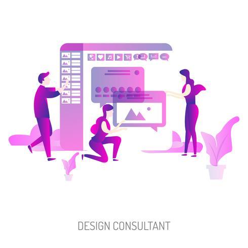 Designberater Konzeptionelle Darstellung Design vektor