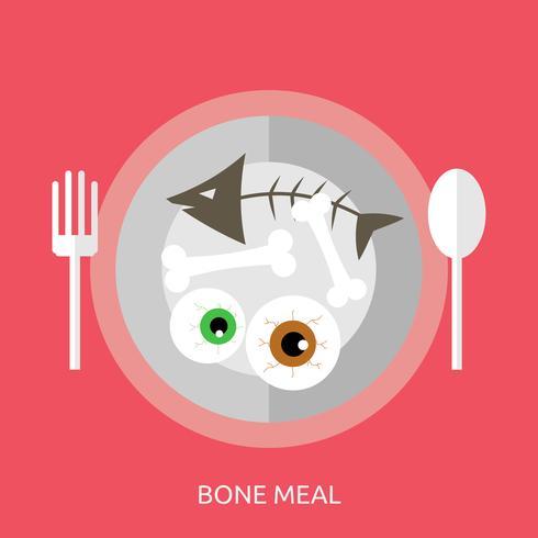 Knochenmahlzeit konzeptionelle Abbildung Design vektor