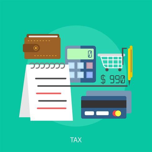 Steuer konzeptionelle illustration design vektor