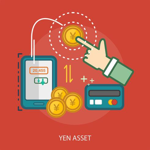 Yen Asset Konceptuell illustration Design vektor