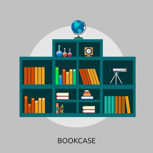 Bücherregal konzeptionelle Illustration Design vektor
