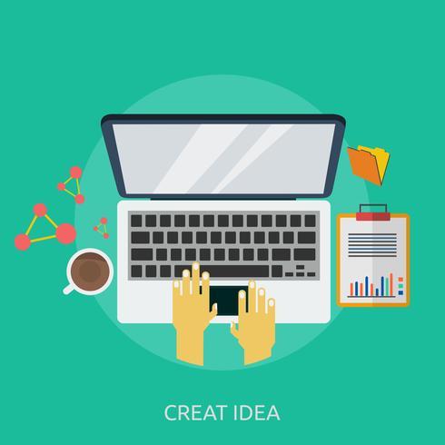 Erstellen Sie Idee konzeptionelle Illustration Design vektor