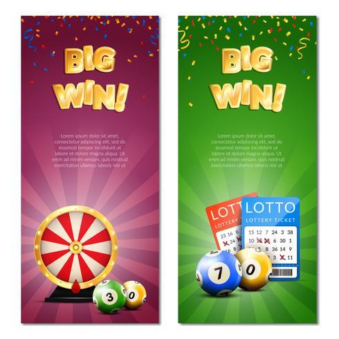Bingo Lotteri Vertikala Banderoller vektor