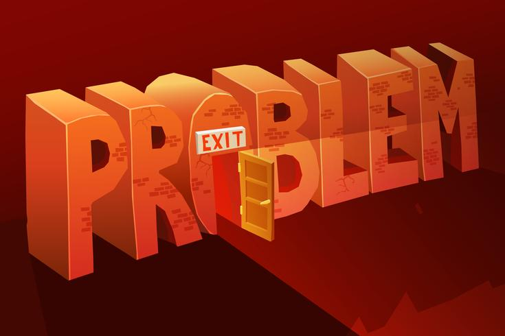 problem exit illustration vektor