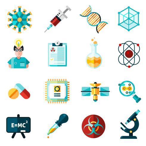Wissenschaft Icons Set vektor