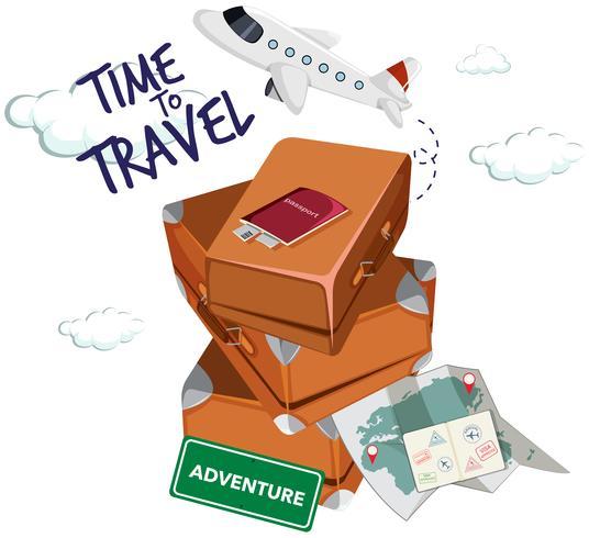 Zeit zum Reisen Symbol vektor