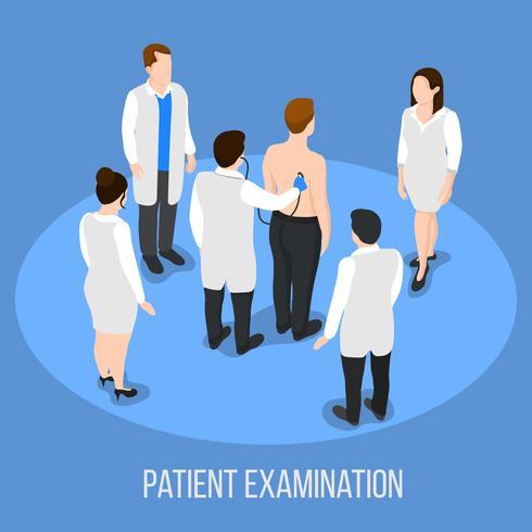 Patientenuntersuchung medizinischer Hintergrund vektor