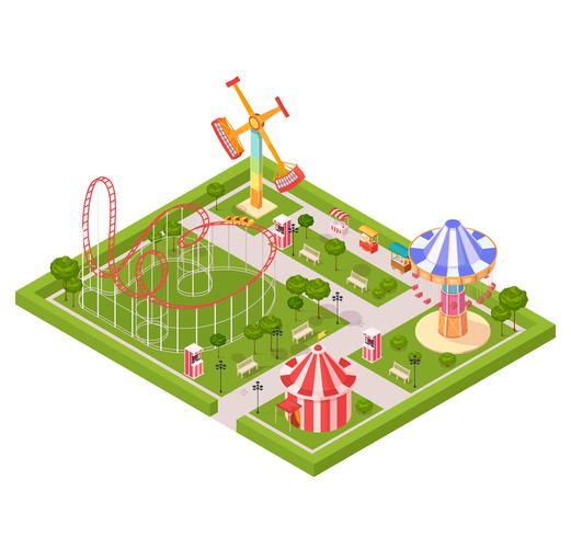 Nöjesparkens designkomposition vektor