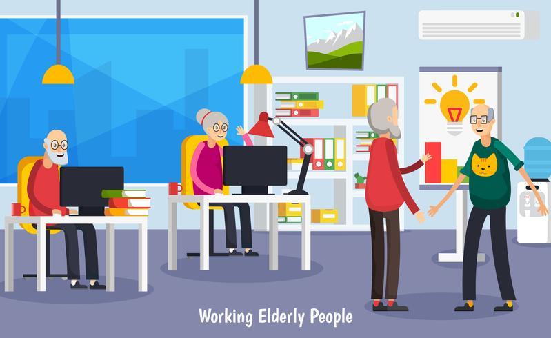 Gealtertes orthogonales Konzept der älteren Leute vektor