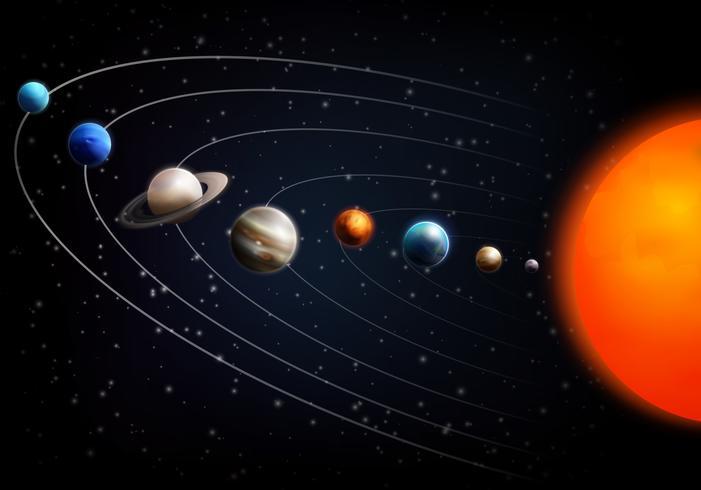 Realistischer Weltraumhintergrund vektor