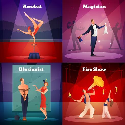 Magic Show 2x2 Design Concept vektor