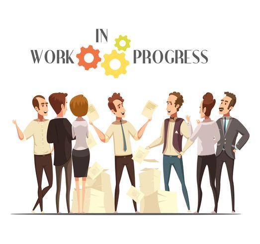 Arbete i Progress Concept vektor