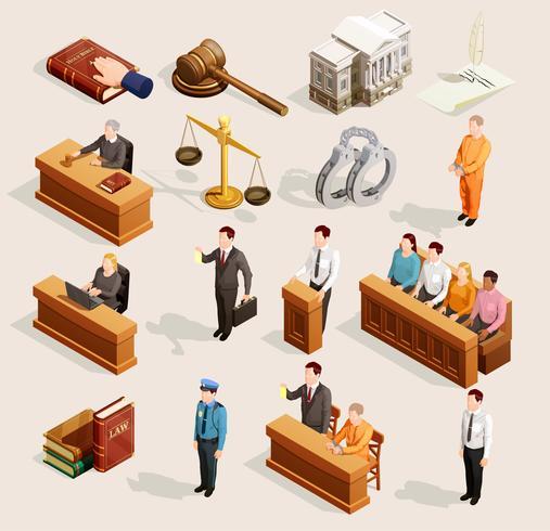 Jury Court Elements-Sammlung vektor