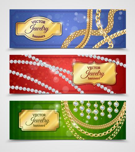 Smycken Banners Set vektor