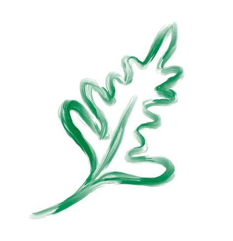 Vektor designer blad element på vit bakgrund. Grön skogskonst lövverk naturlig ört i akvarellstil. Dekorativ skönhet elegant illustration för design
