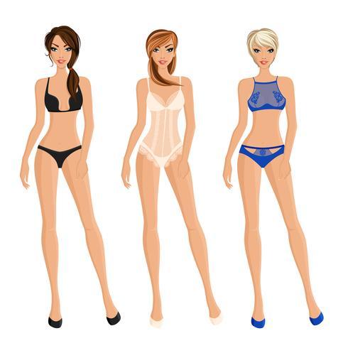 Set of Women Underwear vektor