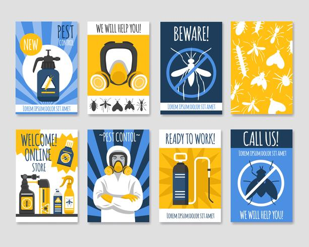 Pest Control Isolated Template Set vektor