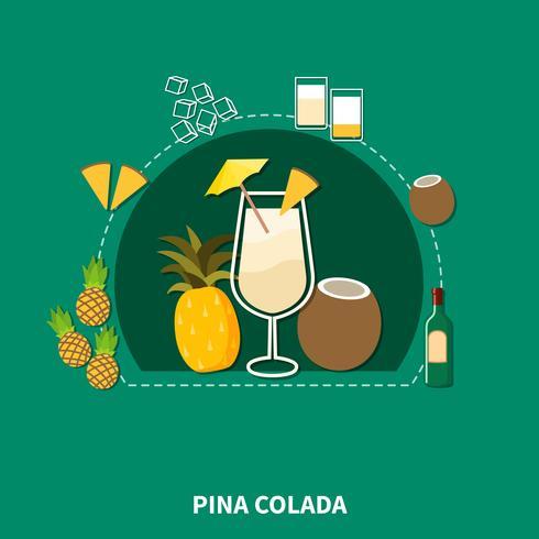 Cocktail-Rezeptvorlage vektor