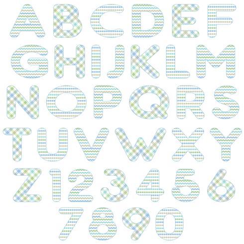 blå grönt alfabet vektor