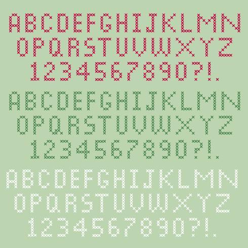 Kreuzstich-Alphabet vektor