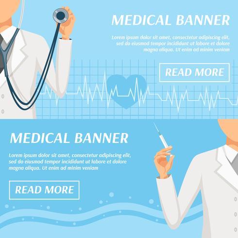 Medicinsk Horisontell Banners Webbdesign vektor