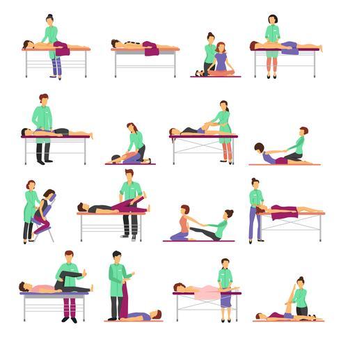 Massage Icons Set vektor