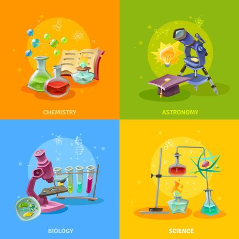 Vetenskapliga discipliner Färgglada koncept vektor