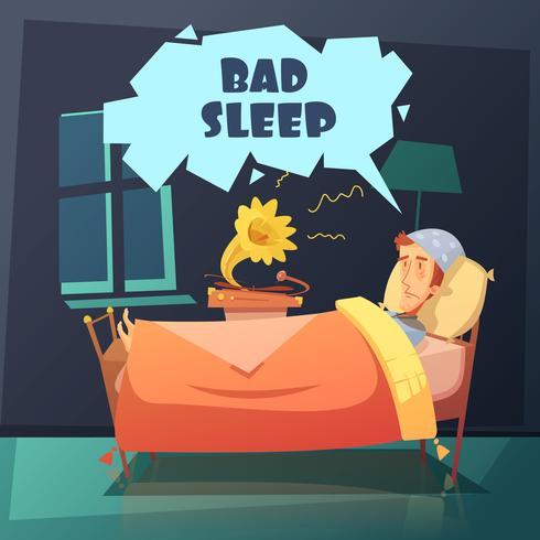 Dålig sömnillustration vektor