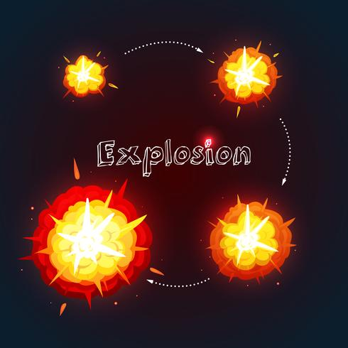 Explosions-Design-Set vektor