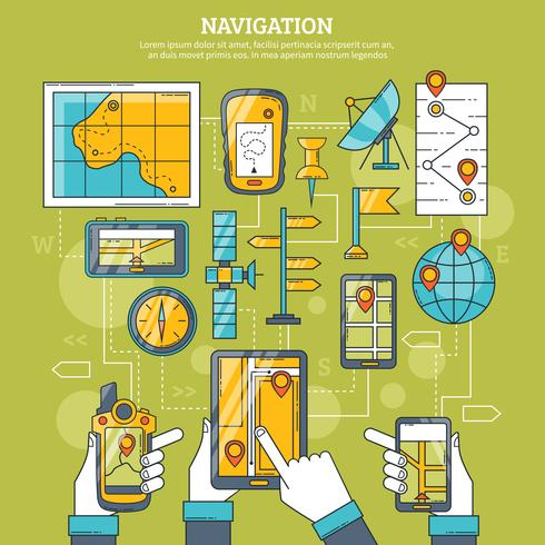 Navigations-Vektor-Illustration vektor